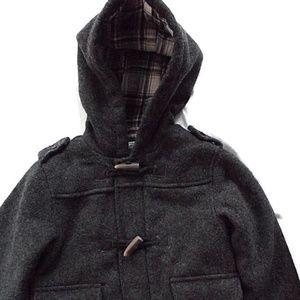 CHILDREN'S PLACE Size 24 M Month Gray Duffle Coat